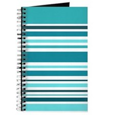 Teal Striped Journal