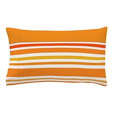 Orange Striped Pillow Case