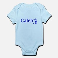 Blue Caleb Name Body Suit