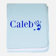 Blue Caleb Name baby blanket