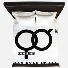 Alpha Male and Female United King Duvet