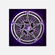 Purple Moon Pentacle Sticker