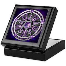 Purple Moon Pentacle Keepsake Box