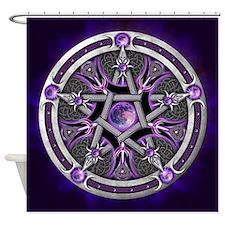 Purple Moon Pentacle Shower Curtain