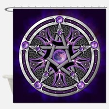 Purple Moon Pentacle Shower Curtain
