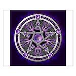 Purple Moon Pentacle Posters