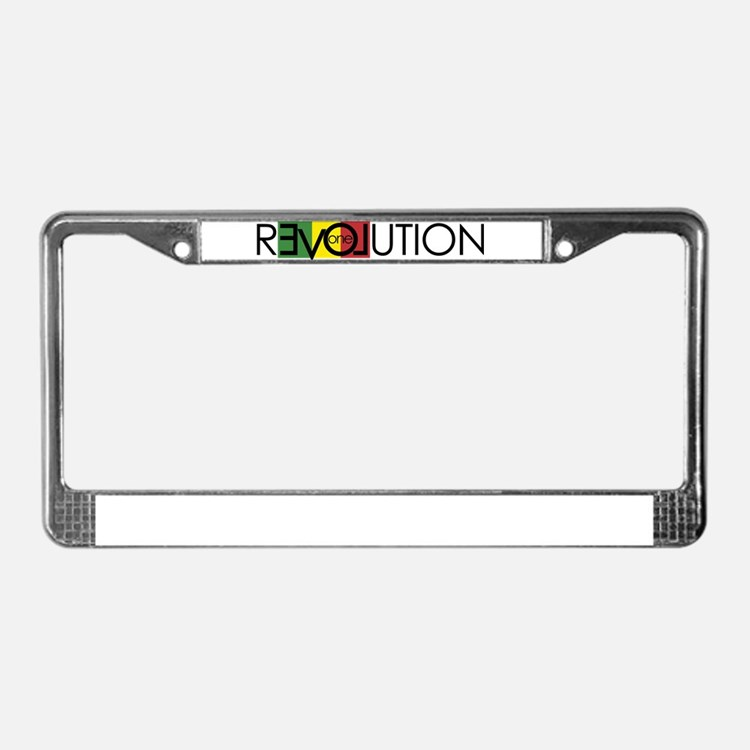 One Love Revolution 7 License Plate Frame