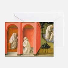 Saint Benedict Orders Saint Maurus t Greeting Card