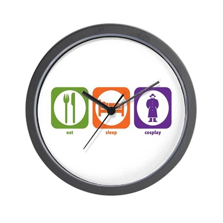 Eat Sleep Cosplay Wall Clock