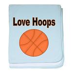 Love Hoops baby blanket