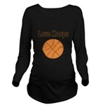 Love Hoops Long Sleeve Maternity T-Shirt
