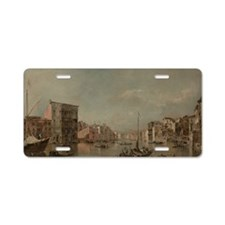 The Grand Canal in Venice w Aluminum License Plate