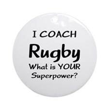 Coach Rugby Ornament (Round)