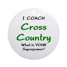 Coach Cross Country Ornament (Round)