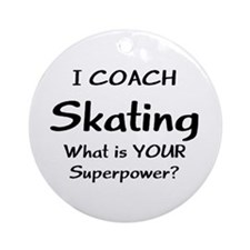 Coach Skating Ornament (Round)