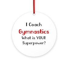 Coach Gymnastics Ornament (Round)