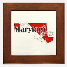 Maryland Diver Framed Tile