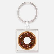 Doughnut Square Keychain
