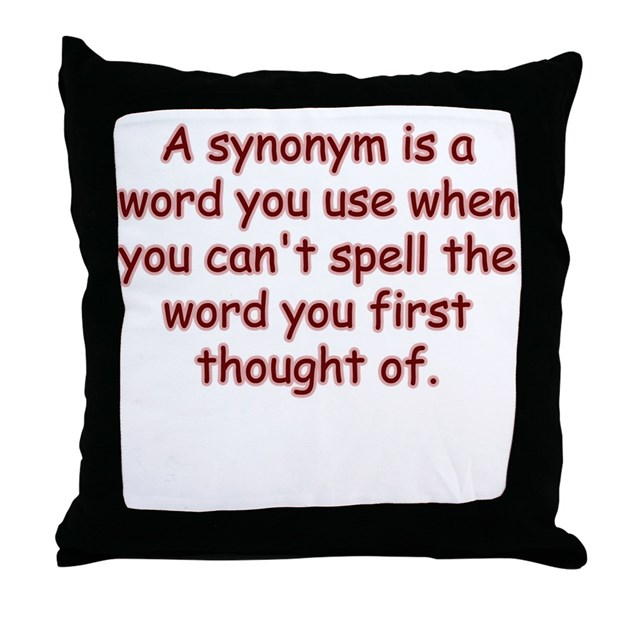 Synonyms For Bed Synonym Throw Pillow By Shopexpressive