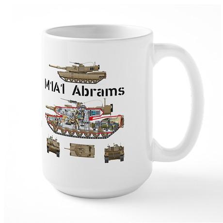 M1A1 Abrams MBT Large Mug