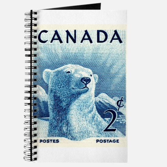 Vintage 1953 Canada Polar Bear Postage Stamp Journ