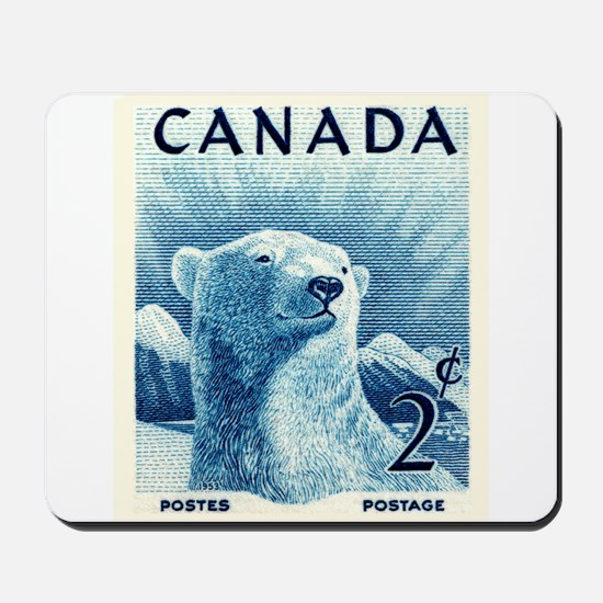 Vintage 1953 Canada Polar Bear Postage Stamp Mouse