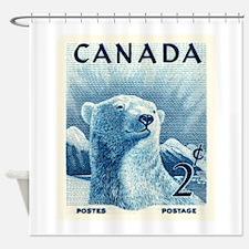 Vintage 1953 Canada Polar Bear Postage Stamp Showe