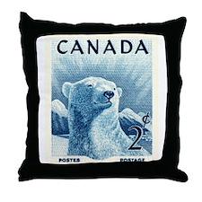 Vintage 1953 Canada Polar Bear Postage Stamp Throw