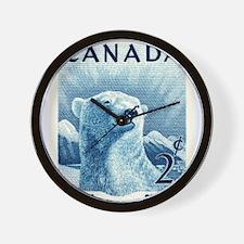 Vintage 1953 Canada Polar Bear Postage Stamp Wall
