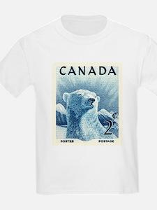 Vintage 1953 Canada Polar Bear Postage Stamp T-Shi