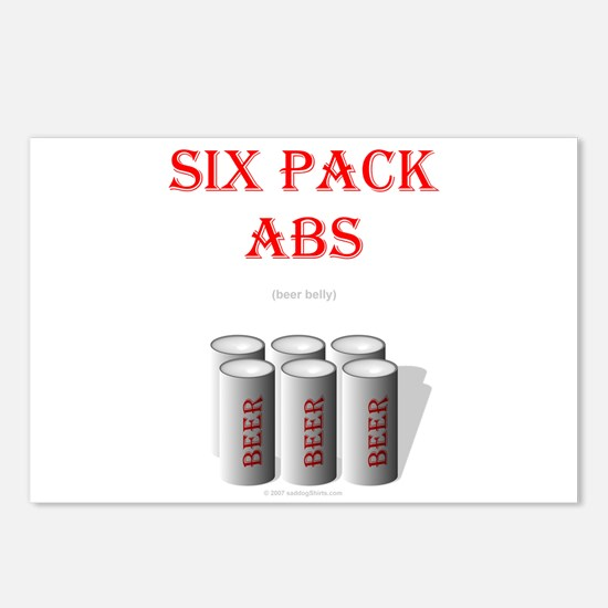 Six Pack Abs (beer belly) Postcards (Package of 8)