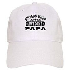 World's Most Awesome Papa Baseball Cap