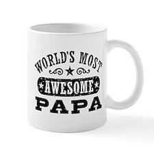 World's Most Awesome Papa Small Mug
