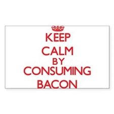 Keep calm by consuming Bacon Decal