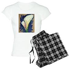 Tuxedo Cuff Calla Lily Painting Pajamas