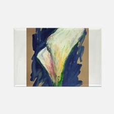 Tuxedo Cuff Calla Lily Painting Magnets