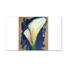 Tuxedo Cuff Calla Lily Painting Car Magnet 20 x 12