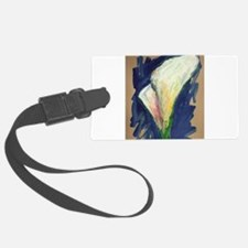 Tuxedo Cuff Calla Lily Painting Luggage Tag