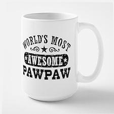 World's Most Awesome PawPaw Large Mug