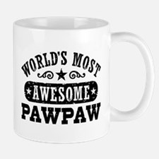 World's Most Awesome PawPaw Small Mugs