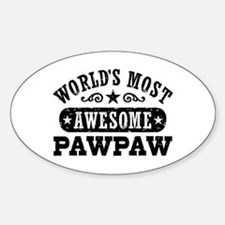 World's Most Awesome PawPaw Decal