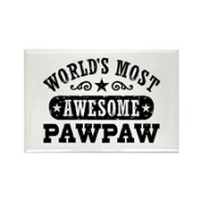 World's Most Awesome PawPaw Rectangle Magnet
