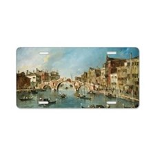 View on the Cannaregio Cana Aluminum License Plate