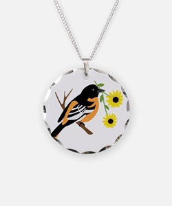 Black Eyed Susan Bird Necklace