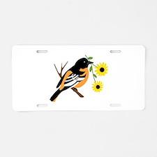 Black Eyed Susan Bird Aluminum License Plate