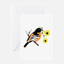 Black Eyed Susan Bird Greeting Cards