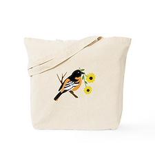 Black Eyed Susan Bird Tote Bag