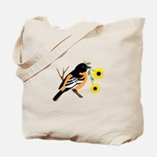 Black Eyed Susan Bird Tote Bag