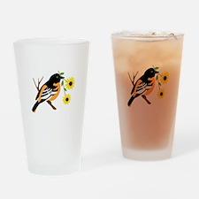 Black Eyed Susan Bird Drinking Glass