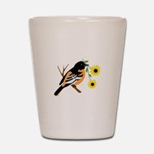 Black Eyed Susan Bird Shot Glass